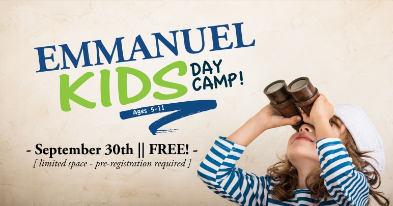 Emmanuel Kids Day Camp! | September 30th from 9:30am to 3:30pm